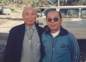 Fr Tung (R) with his good friend, Fr Chi, whom he persuaded to come to North Borneo in 1954.