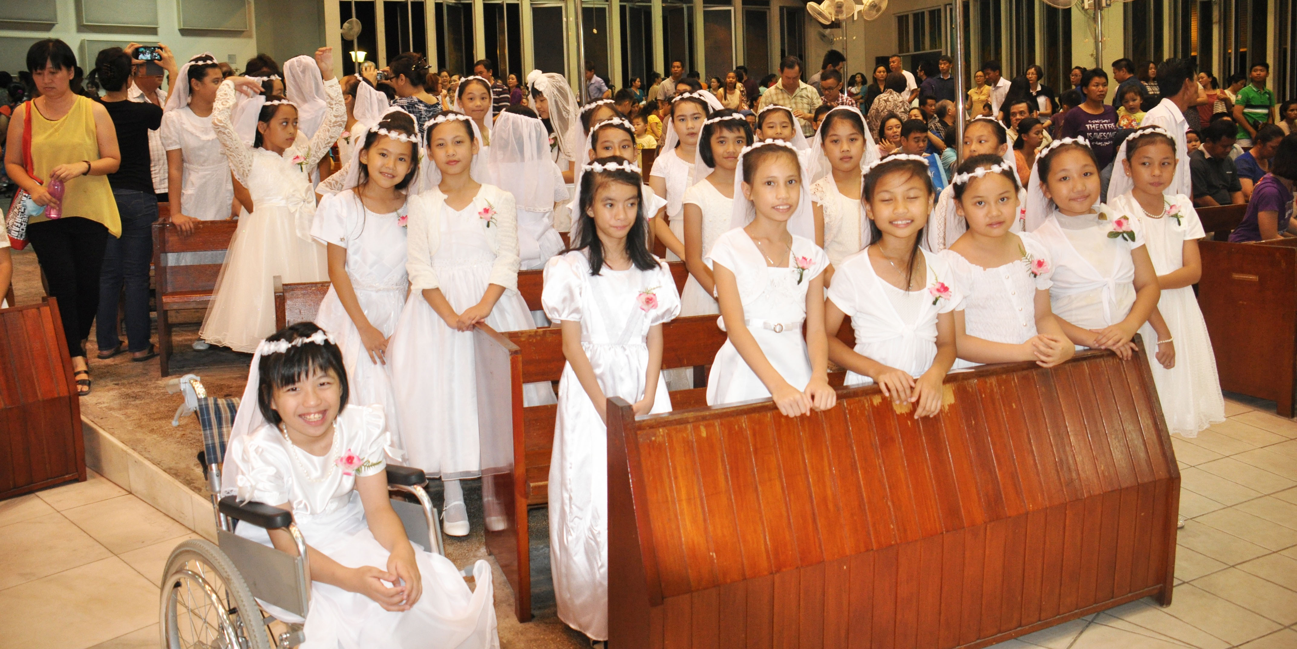 A section of the 108 first communicants.