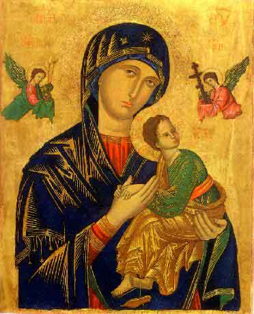 The original icon of Our Lady of Perpetual Help