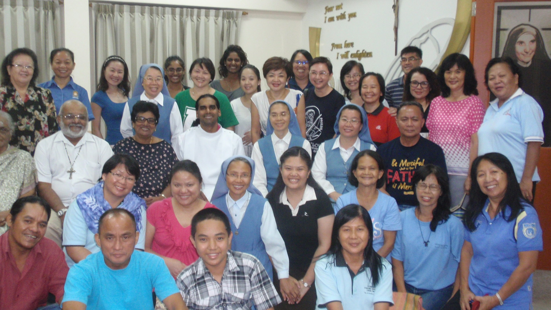 A section of the group taken at the end of Mass.