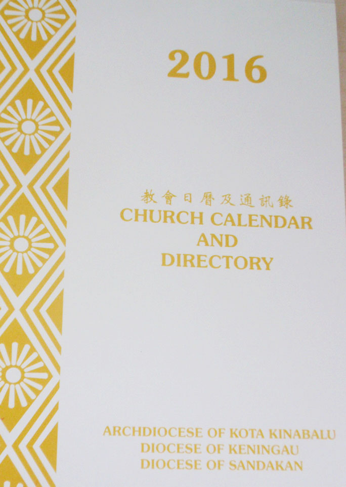 church calendar and directory