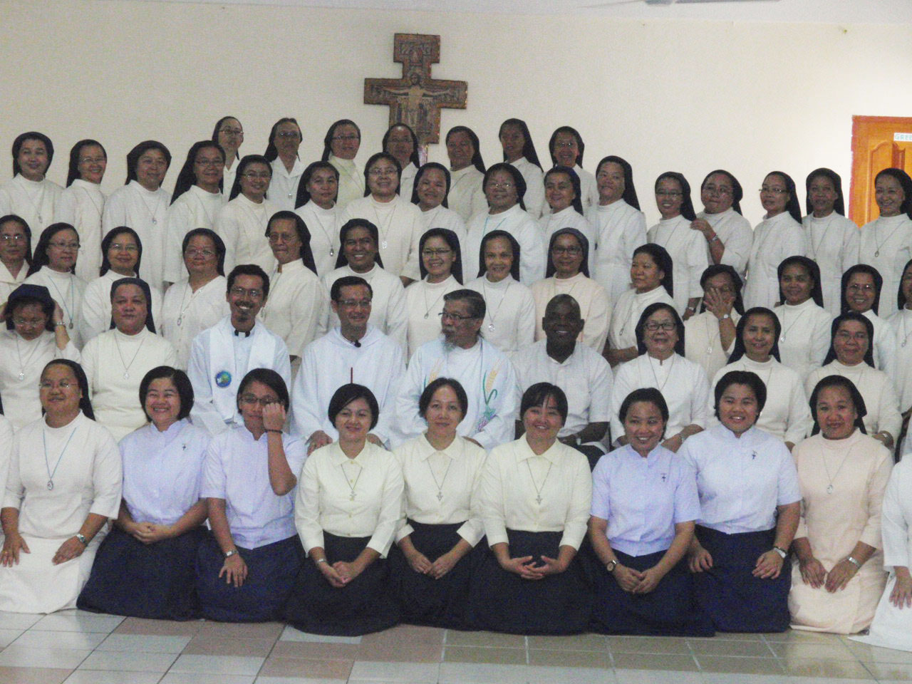 A section of the group photo taken after the Mass.