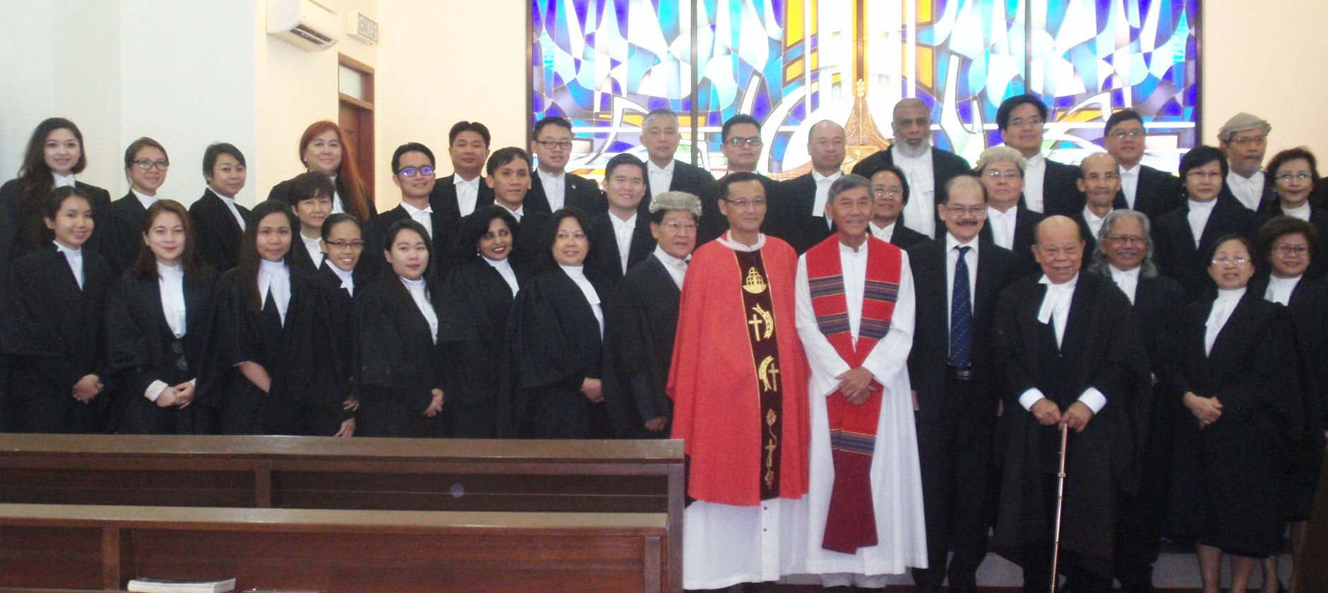 A section of the group photo taken at the end of the Mass.