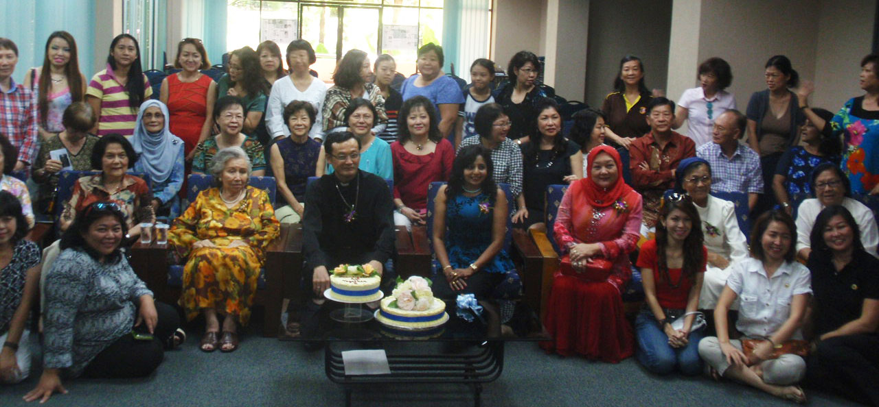 A section of the group photo taken before the cake cutting to mark the occasion.